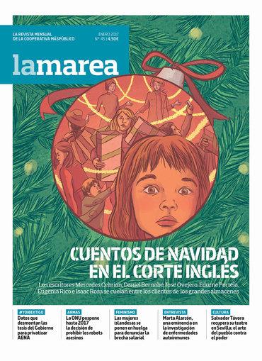 Portada La Marea Enero 2017 - Cuentos de navidad en El Corte Inglés